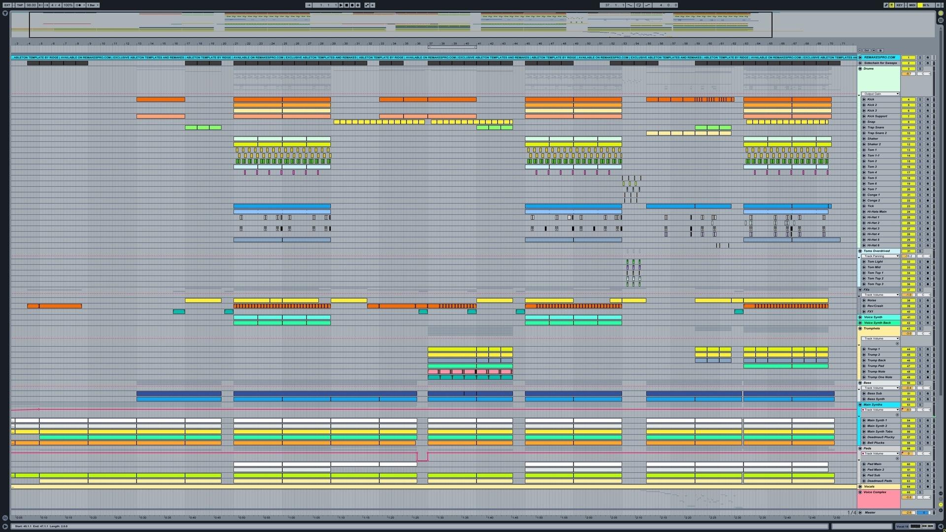 Major Lazer & DJ Snake - Lean On / Remake [Ableton Live] - RemakesPro